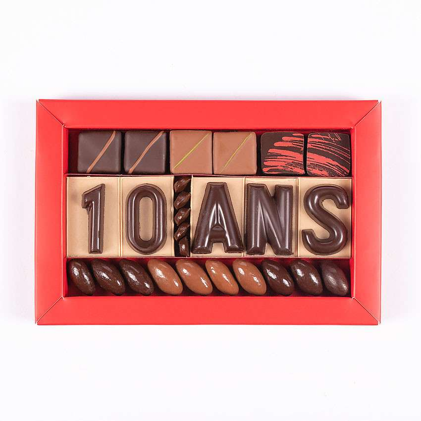 Chocolat Entreprise Anniversaire 10 Ans