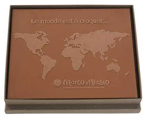 Boite Le monde est à croquer / Gravure chocolat