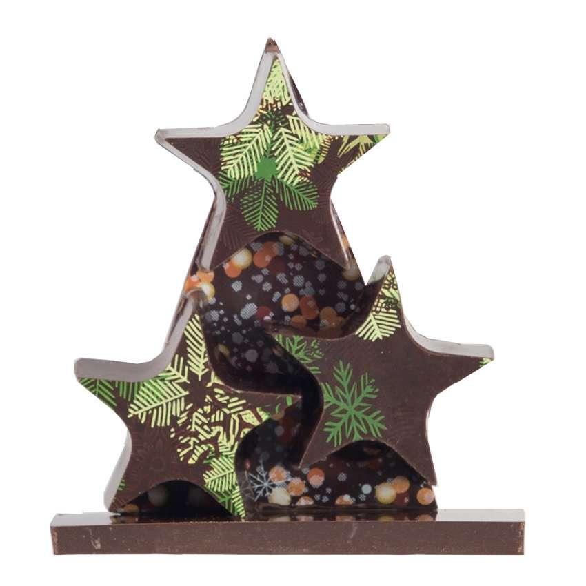 Sapin cadeau no l chocolat noir pour votre table for Cadeau de table pour noel