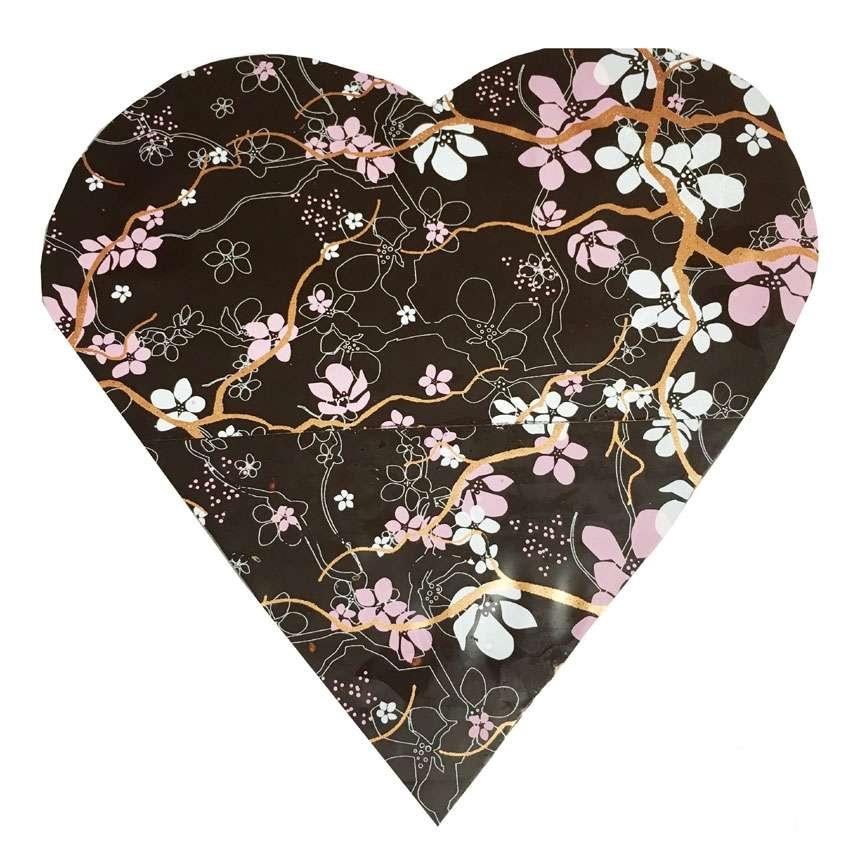 Coeur chocolat noir cerisier - Fleur au coeur noir ...