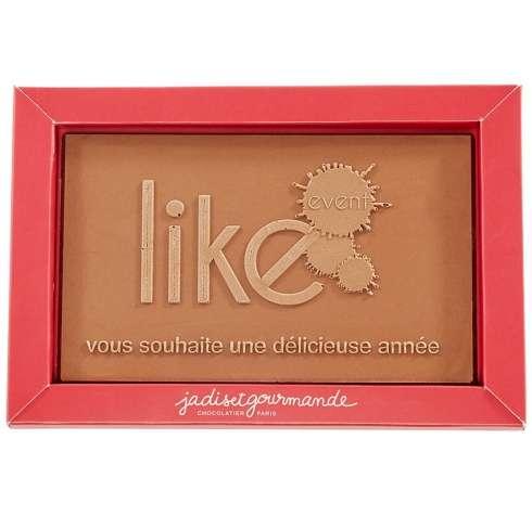 Plaque avec logo chocolat LAIT / Moins de 10 € HT : goodies personnalisés