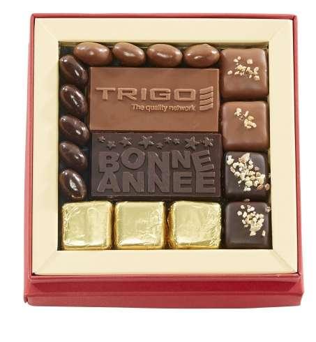 Cadeaux fin d'année chocolat personnalisable / De 10 à 20 € HT : cadeau chocolat sur mesure