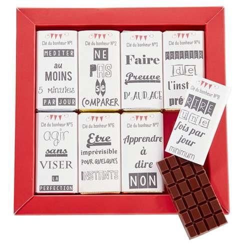 Les 8 clés du bonheur en chocolat / Boites chocolats coffrets chocolats