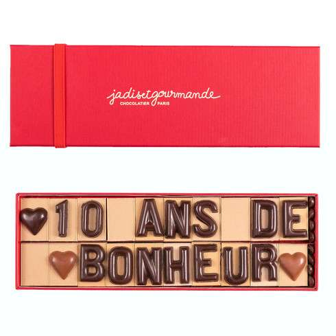 Message en chocolat à composer ! / La Saint-Valentin