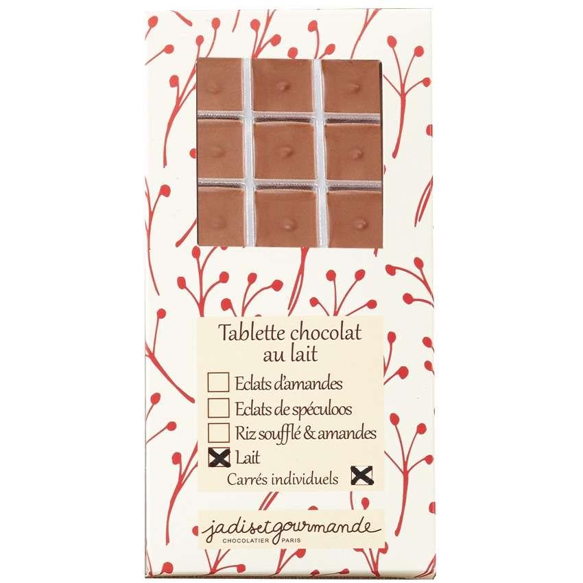 tablette de chocolat au lait carr s individuels. Black Bedroom Furniture Sets. Home Design Ideas